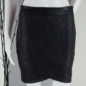 Mossimo Women's Black Faux Leather Pencil Skirt 2